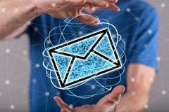 Έννοια του ηλεκτρονικού ταχυδρομείου Στοκ εικόνα με δικαίωμα ελεύθερης χρήσης