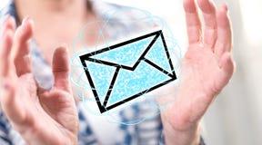 Έννοια του ηλεκτρονικού ταχυδρομείου Στοκ φωτογραφία με δικαίωμα ελεύθερης χρήσης