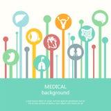 Έννοια του ιατρικού υποβάθρου Ανθρώπινη ανατομία Στοκ εικόνα με δικαίωμα ελεύθερης χρήσης