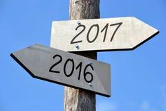 έννοια του 2016 και του 2017 Στοκ φωτογραφία με δικαίωμα ελεύθερης χρήσης