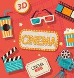 Έννοια του κινηματογράφου Στοκ εικόνες με δικαίωμα ελεύθερης χρήσης