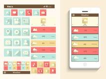 Έννοια του κινητού ενδιάμεσου με τον χρήστη Στοκ εικόνες με δικαίωμα ελεύθερης χρήσης