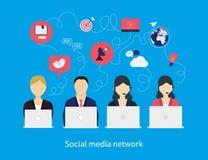 Έννοια του κοινωνικού δικτύου μέσων Στοκ φωτογραφία με δικαίωμα ελεύθερης χρήσης
