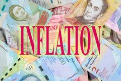 Έννοια του πληθωρισμού στη Βενεζουέλα Χρήματα εγγράφου bolívar Τα όμορφα ζωηρόχρωμα bolivares κλείνουν επάνω το υπόβαθρο με τον π στοκ φωτογραφία με δικαίωμα ελεύθερης χρήσης
