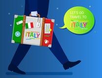 Έννοια του ταξιδιού ή της μελέτης των ιταλικών Στοκ Εικόνες