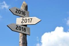 έννοια του 2016, του 2017 και του 2018 Στοκ Εικόνες