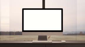 Έννοια του χώρου εργασίας με το γενικό υπολογιστή σχεδίου Στοκ Εικόνες