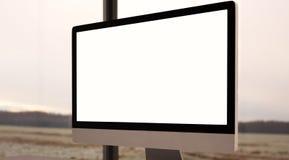 Έννοια του χώρου εργασίας με το γενικό υπολογιστή σχεδίου Στοκ φωτογραφία με δικαίωμα ελεύθερης χρήσης