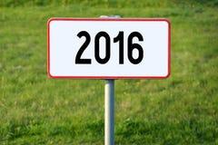 έννοια του 2016 Στοκ φωτογραφία με δικαίωμα ελεύθερης χρήσης