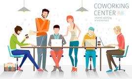 Έννοια του coworking κέντρου Στοκ Εικόνες