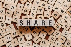 Έννοια του Word μεριδίου στοκ εικόνες με δικαίωμα ελεύθερης χρήσης