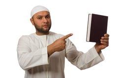 Έννοια το αραβικό άτομο που απομονώνεται με Στοκ εικόνα με δικαίωμα ελεύθερης χρήσης