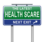 Έννοια τρόμου υγείας. Στοκ Εικόνες