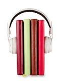 Έννοια των ακουστικών βιβλίων στο θέμα στοκ φωτογραφία με δικαίωμα ελεύθερης χρήσης