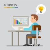 Έννοια των επιχειρηματιών Ελεύθερη απεικόνιση δικαιώματος