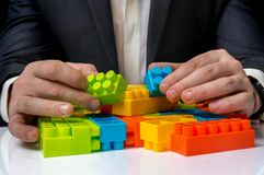 Έννοια των επιχειρησιακών ιδεών στρατηγικής και αναδιοργάνωσης Στοκ Φωτογραφίες