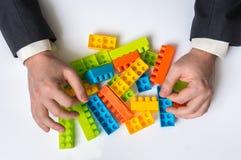 Έννοια των επιχειρησιακών ιδεών στρατηγικής και αναδιοργάνωσης Στοκ Εικόνα