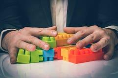Έννοια των επιχειρησιακών ιδεών στρατηγικής και αναδιοργάνωσης στοκ φωτογραφία με δικαίωμα ελεύθερης χρήσης