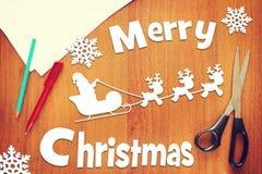 Έννοια των διακοπών Χαρούμενα Χριστούγεννας Στοκ φωτογραφίες με δικαίωμα ελεύθερης χρήσης