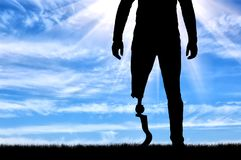Έννοια των προσθετικών ποδιών Στοκ εικόνες με δικαίωμα ελεύθερης χρήσης
