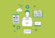 Έννοια των συμβουλευτικών υπηρεσιών, διαχείριση του προγράμματος Στοκ εικόνα με δικαίωμα ελεύθερης χρήσης