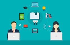 Έννοια των συμβουλευτικών υπηρεσιών και της ε-εκμάθησης Στοκ εικόνα με δικαίωμα ελεύθερης χρήσης