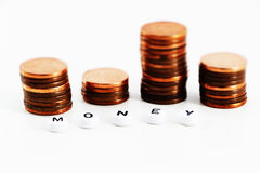 Έννοια των χρημάτων, μικροσκοπικό ύφος Στοκ Φωτογραφίες