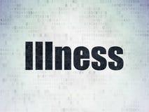Έννοια υγείας: Ασθένεια στο υπόβαθρο εγγράφου ψηφιακών στοιχείων διανυσματική απεικόνιση