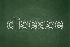 Έννοια υγείας: Ασθένεια στο υπόβαθρο πινάκων κιμωλίας ελεύθερη απεικόνιση δικαιώματος
