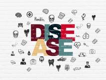 Έννοια υγείας: Ασθένεια στο υπόβαθρο τοίχων διανυσματική απεικόνιση