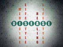 Έννοια υγειονομικής περίθαλψης: Ασθένεια στο γρίφο σταυρόλεξων διανυσματική απεικόνιση