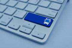 Έννοια υπηρεσιών επιχειρησιακών μεταφορών Διαδικτύου Στοκ Εικόνα