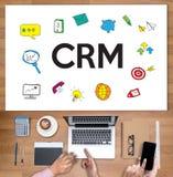 Έννοια υπηρεσιών διοικητικής ανάλυσης πελατών επιχείρησης CRM CRM, Στοκ Εικόνα