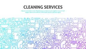 Έννοια υπηρεσιών καθαρισμού ελεύθερη απεικόνιση δικαιώματος