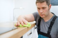 Έννοια υπηρεσιών καθαρισμού στοκ εικόνα