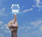 Έννοια υπηρεσιών μεταφορών επιχειρησιακών λεωφορείων Στοκ Εικόνες