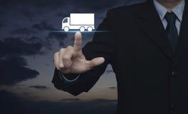 Έννοια υπηρεσιών μεταφορών φορτηγών Στοκ Εικόνες