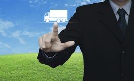 Έννοια υπηρεσιών μεταφορών φορτηγών Στοκ φωτογραφία με δικαίωμα ελεύθερης χρήσης
