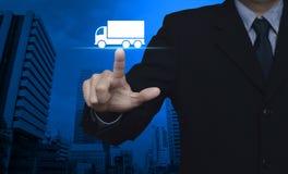 Έννοια υπηρεσιών μεταφορών φορτηγών Στοκ Φωτογραφίες