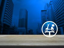 Έννοια υπηρεσιών μοτοσικλετών επιχειρησιακής επισκευής στοκ εικόνα