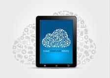 Έννοια υπηρεσιών υπολογισμού σύννεφων ελεύθερη απεικόνιση δικαιώματος