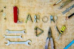 Έννοια υποβάθρου Εργατικής Ημέρας Στοκ φωτογραφία με δικαίωμα ελεύθερης χρήσης
