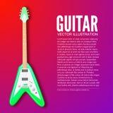 Έννοια υποβάθρου κιθάρων επίσης corel σύρετε το διάνυσμα απεικόνισης Στοκ Εικόνες