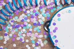 Έννοια υποβάθρου κομμάτων Carnaval Διάστημα για το κείμενο, copyspace Στοκ φωτογραφία με δικαίωμα ελεύθερης χρήσης