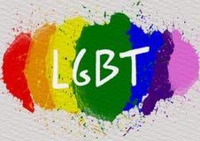 Έννοια υποβάθρου LGBT ελεύθερη απεικόνιση δικαιώματος