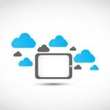 Έννοια υπολογισμού σύννεφων ταμπλετών Στοκ εικόνα με δικαίωμα ελεύθερης χρήσης