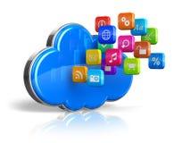 έννοια υπολογισμού σύννεφων Στοκ εικόνα με δικαίωμα ελεύθερης χρήσης