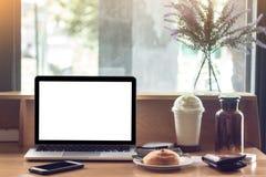 Έννοια, υπολογιστής, εργασιακός χώρος Στοκ Εικόνα