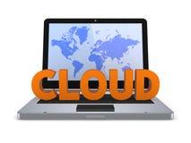 Έννοια υπολογισμού σύννεφων. Στοκ φωτογραφία με δικαίωμα ελεύθερης χρήσης