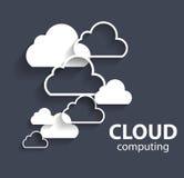 Έννοια υπολογισμού σύννεφων διαφορετικό σε ηλεκτρονικό Στοκ Εικόνες